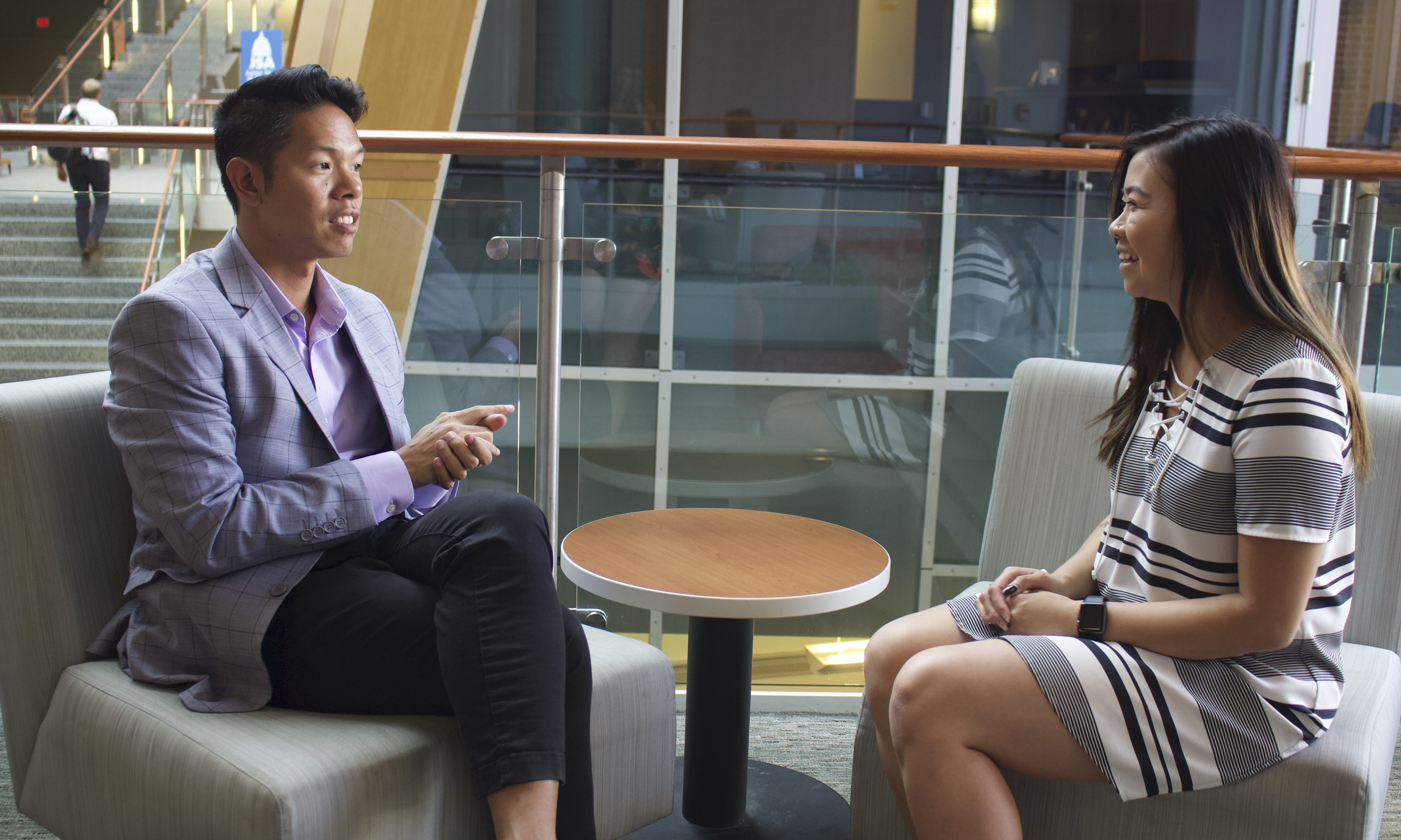 Nate Wong sits with Celine Chieu for a conversation