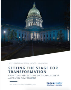 cover of Setting the Stage for Transformation report
