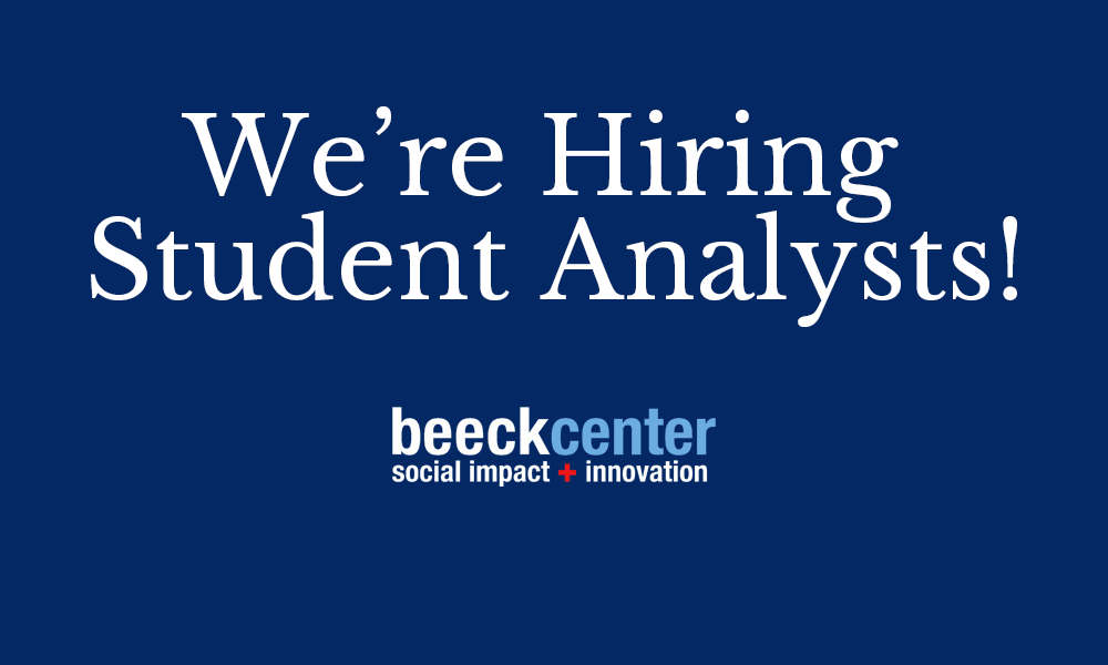 we're hiring student analysts!