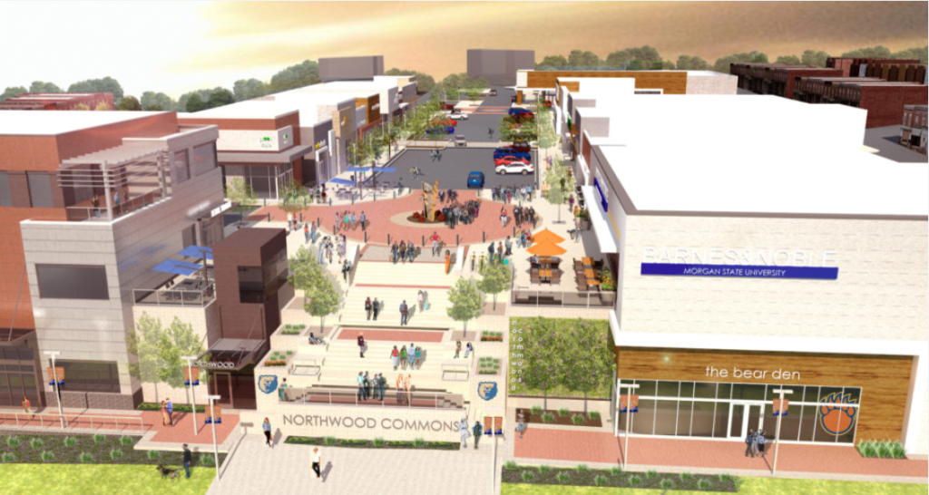 artist rendering of Northwood Commons project