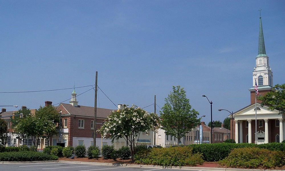 Buildings in Kannapolis, North Carolina, USA.