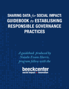 cover of Sharing Data for Social Impact report