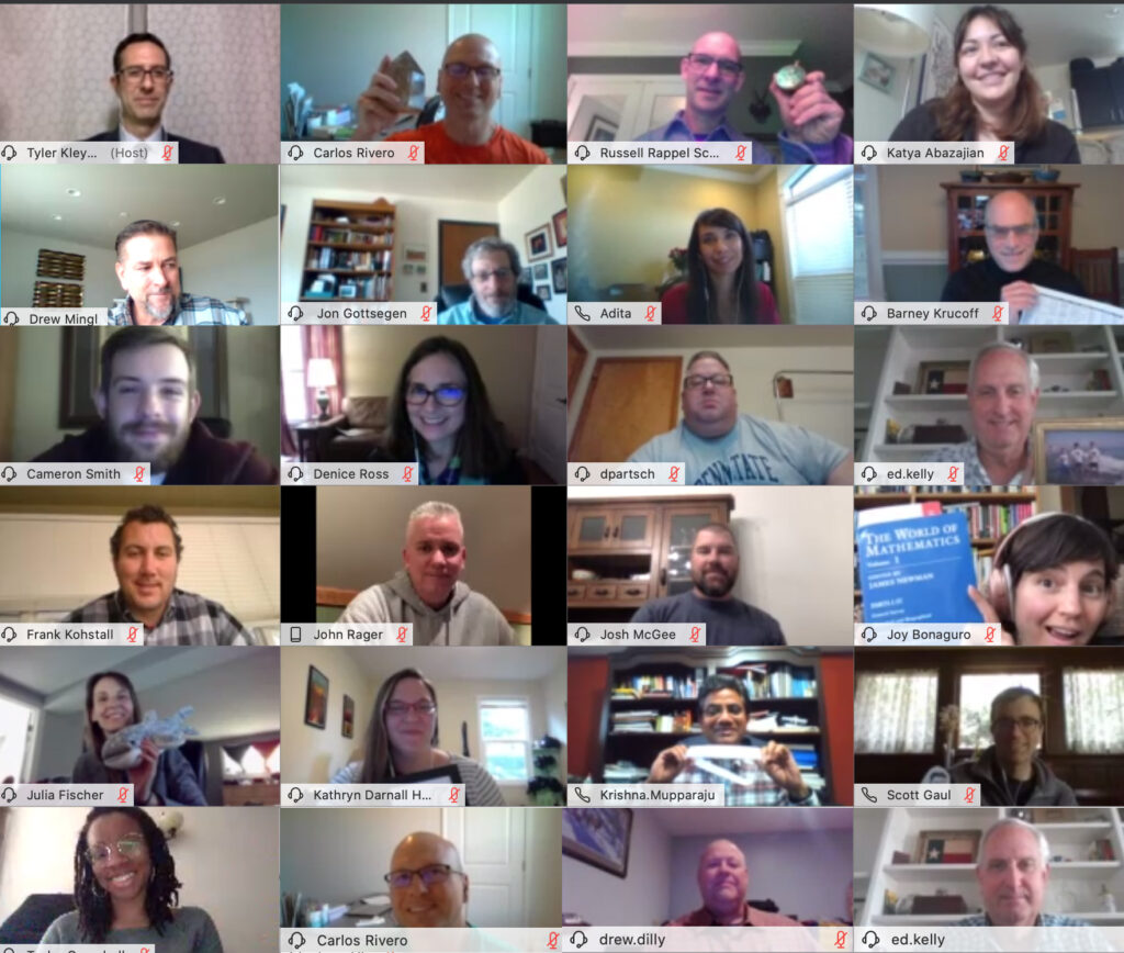 screenshot of Zoom meeting with 24 attendees