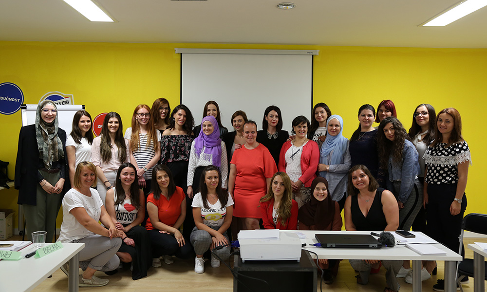 group photo of Women for Women International