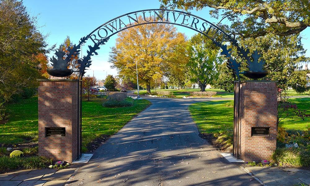 welocme gate at Rowan University