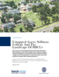 Stillman College report cover
