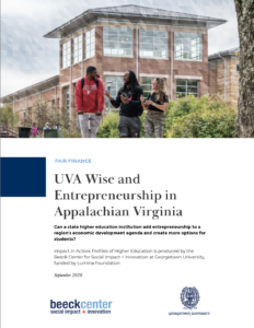 cover of report showing students walking across campus
