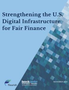 report cover for Strengthening the US Digital Infrastructure for Fair Finance