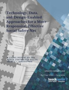 Report Cover for Technology, Data, and Design-Enabled Approaches for a More Responsive, Effective Social Safety Net