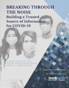Report Cover - people in COVID masks with title text